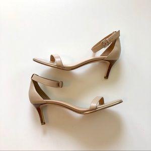 Talbots nude open toe heels size 8.5